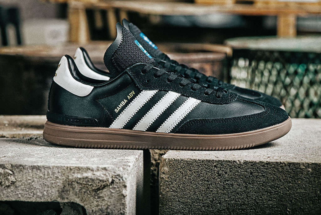 Black Samba ADV Sneakers By Adidas Skateboard