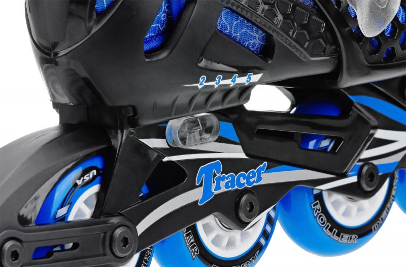 Blue Tracer Boys Adjustable Inline Skates by Roller Derby