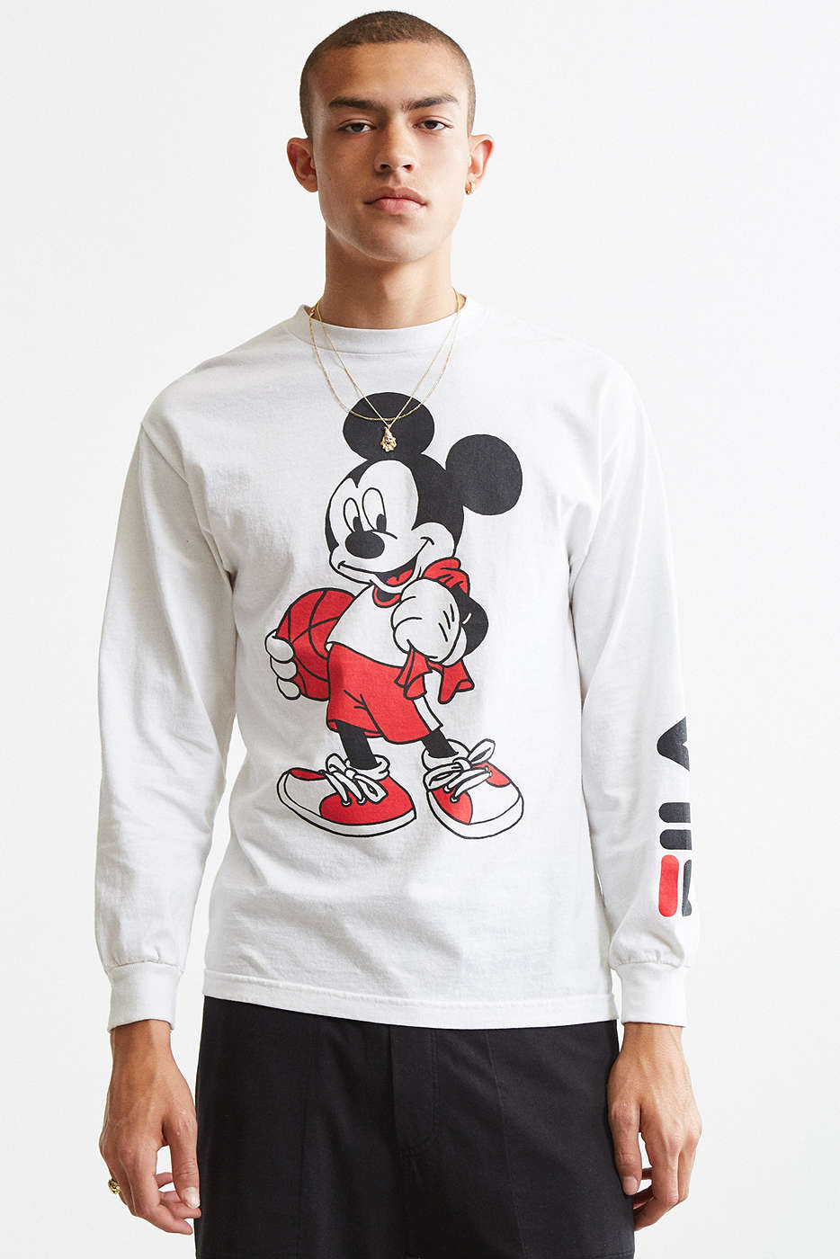 Long-sleeve tee Mickey Mouse graphic by Fila