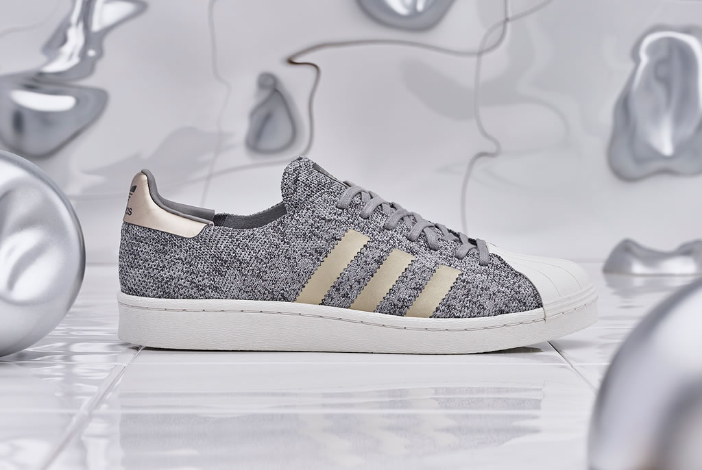 Platinum Superstar BOOST Sneakers by Adidas
