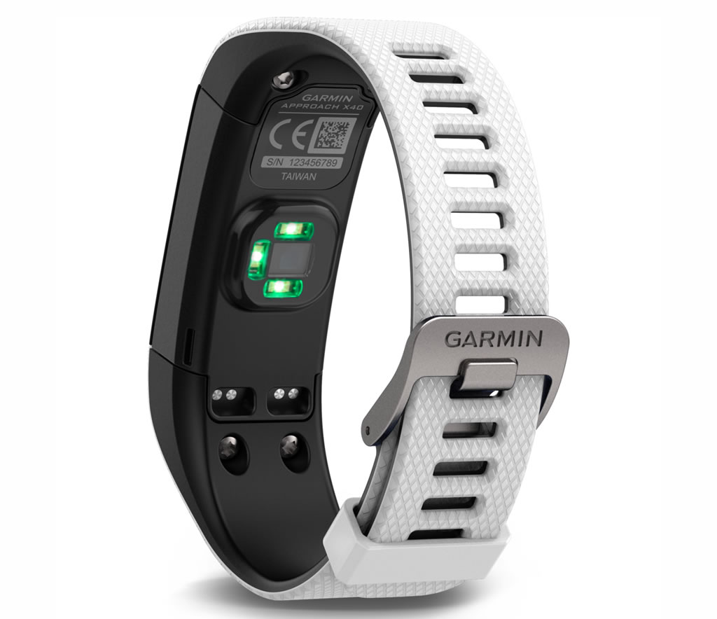 White Approach X40 Golf GPS Band by Garmin