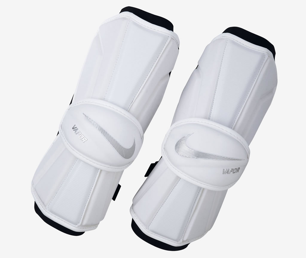 All-White Vapor 2.0 Lacrosse Arm Guards for Men by Nike