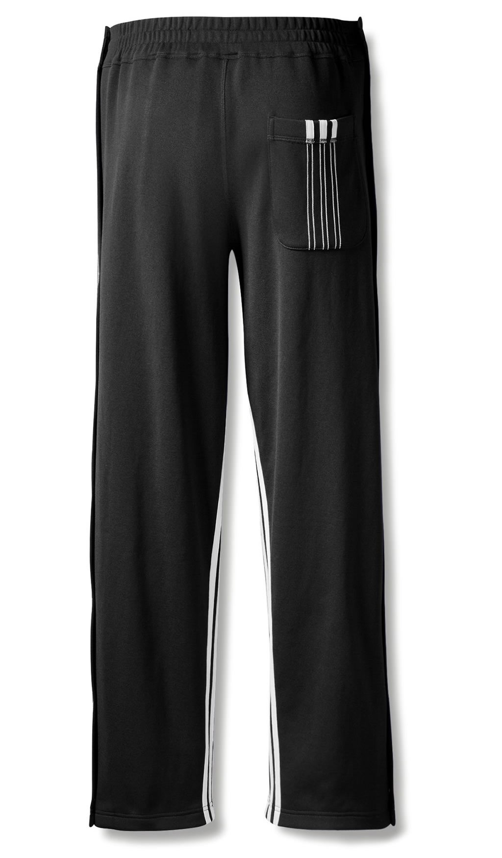 Black AW Track Pants by Adidas Originals , Back