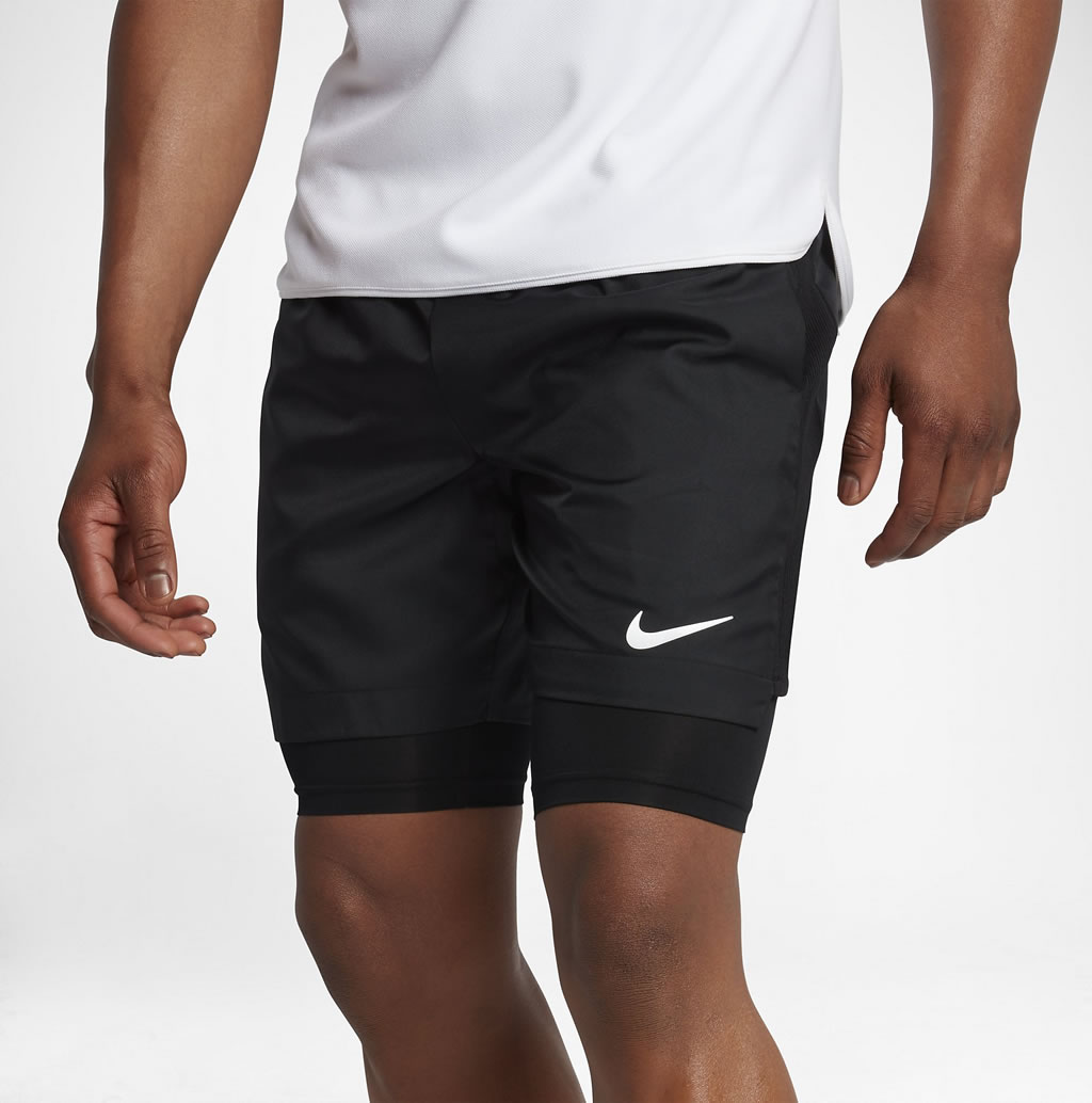 Black Baseline Dry Tennis Shorts by NikeCourt, Compression Shorts