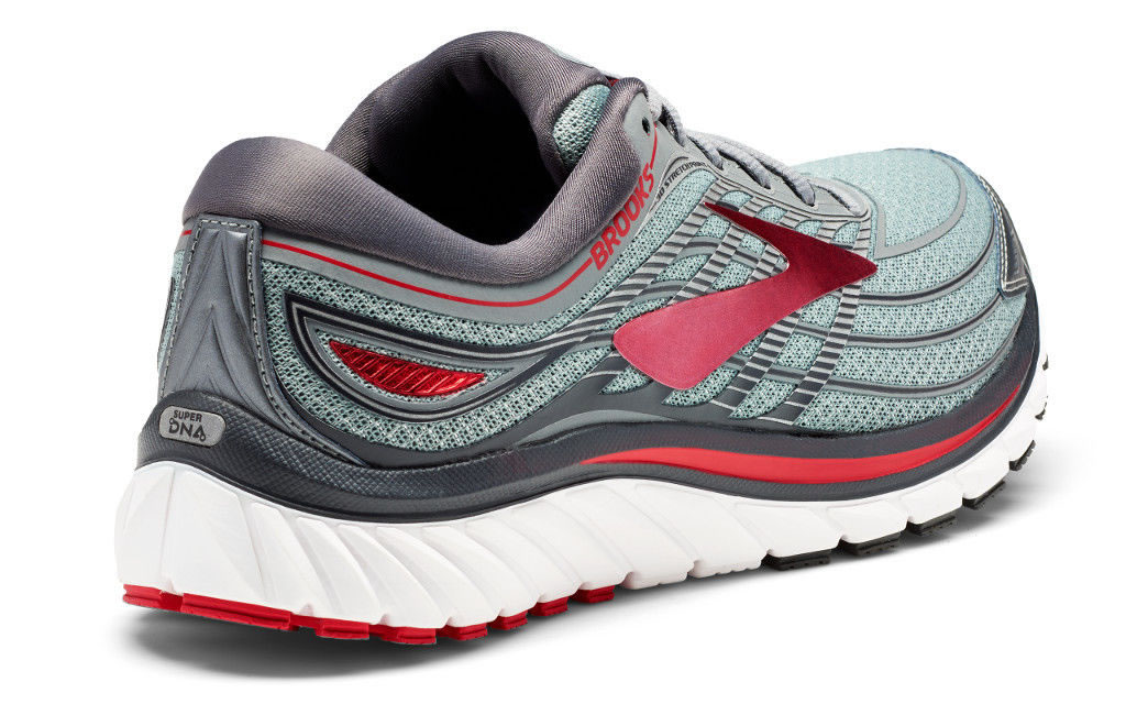 Grey Men's Glycerin 15 Running Shoes, Heel