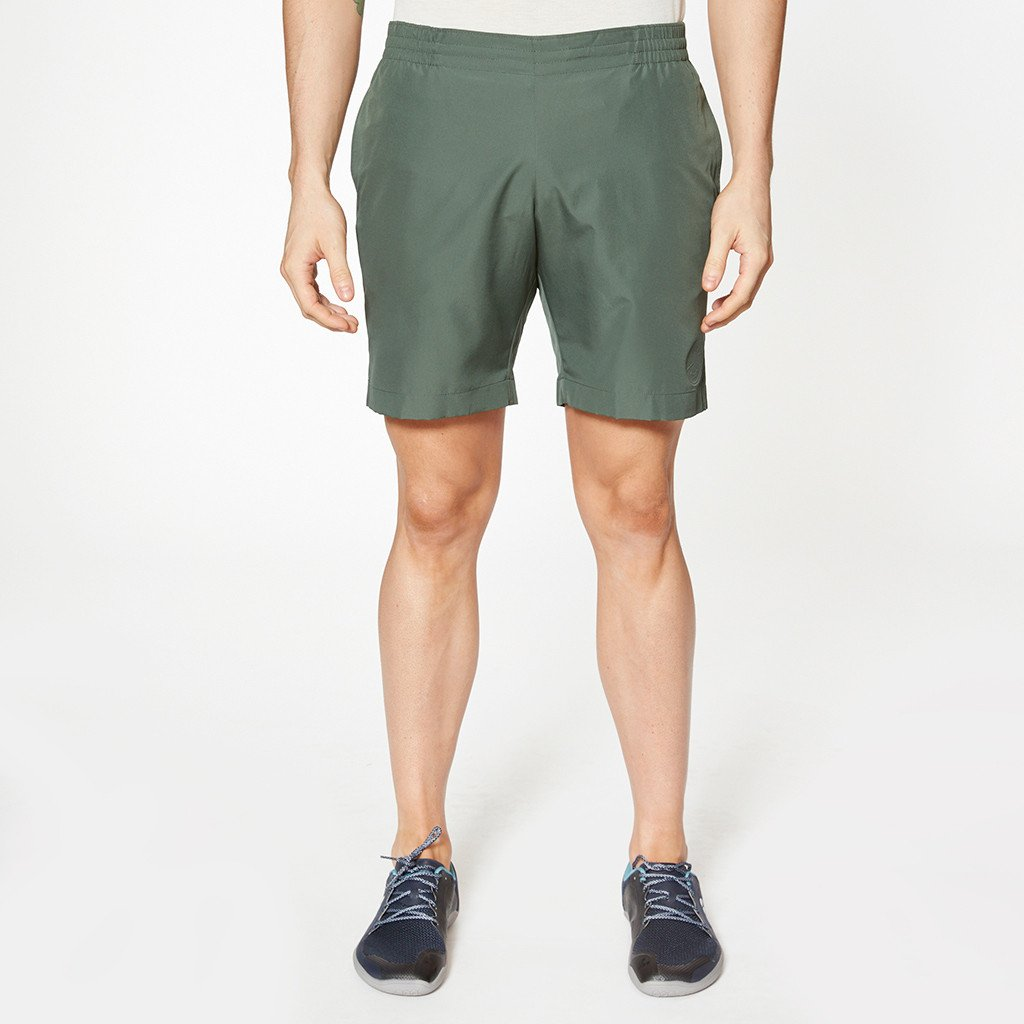 Hampton Leaf Green Shorts by Iffley Road, Front