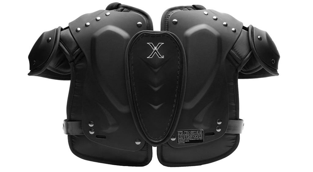 Lightweight shoulder pads for youth by Xenith