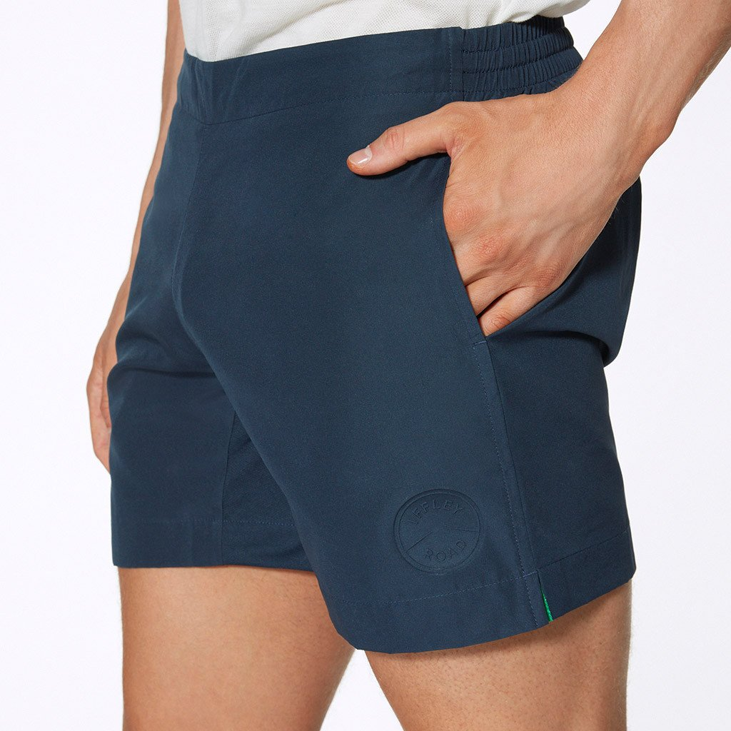 Marine Blue Thompson Running Shorts by Iffley Road, Side Pockets