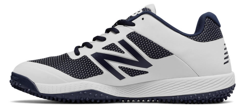 Navy Turf 4040v4 baseball shoes by New Balance, Side