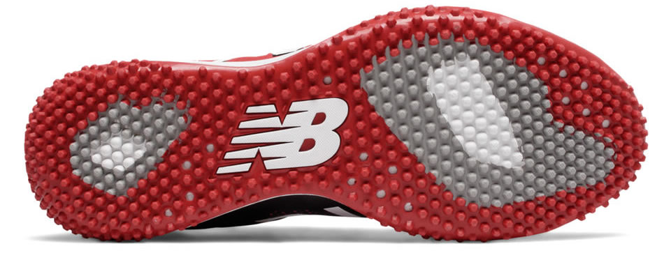 Red Turf 4040v4 baseball shoes by New Balance, Sole