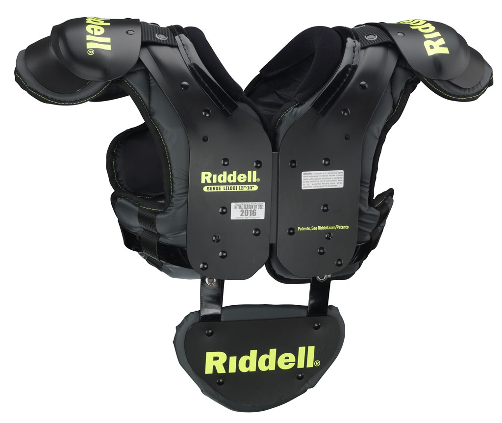 Surge Youth Football Shoulder Pads by Riddell, Back Plate