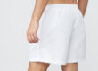 White Fundamental Clay Tennis Shorts by Fila, Back