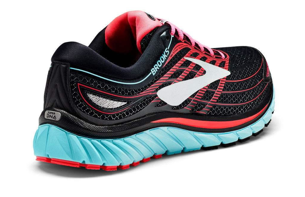 Women's Glycerin 15 running shoes by Brooks, Heel