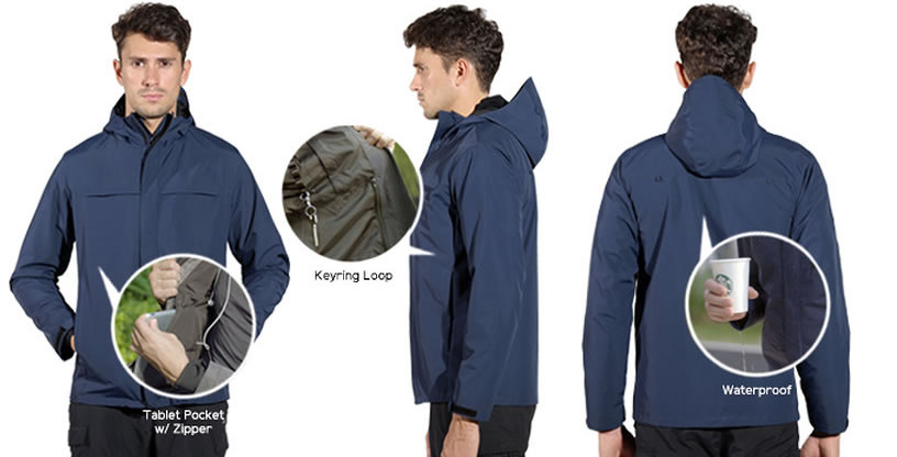 XY37 SLEEK WINDBREAKER JACKET
