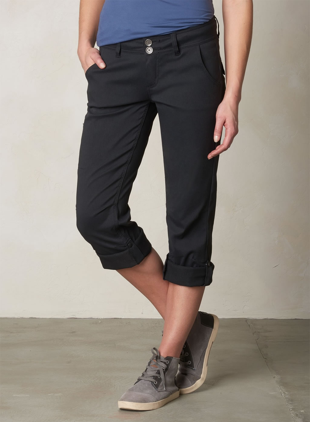 Black Halle Hiking Pants for women by Prana
