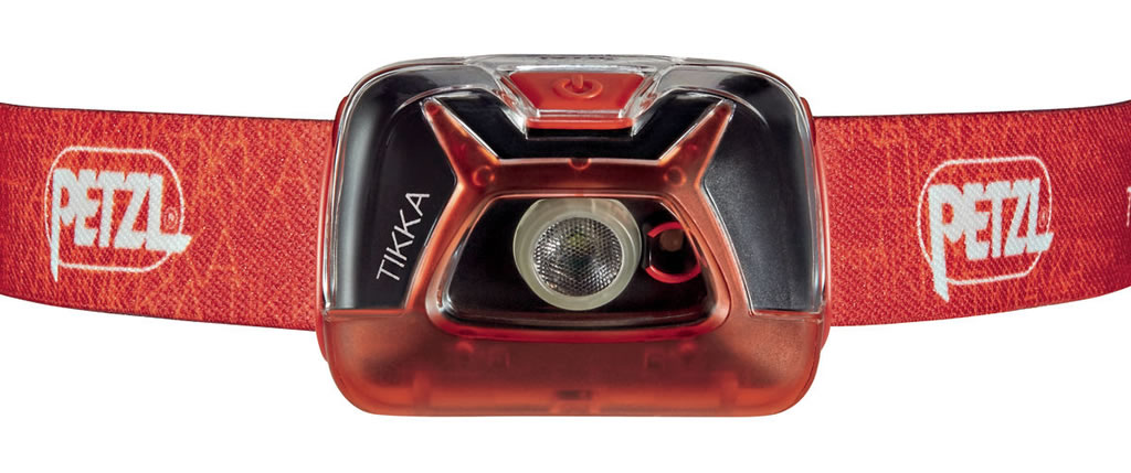 Red Tikka Classic Headlamp by Petzl