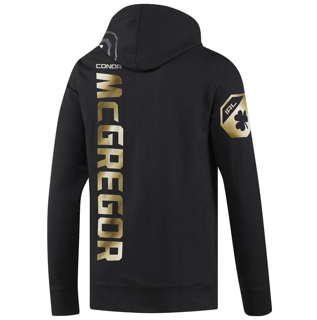 Black UFC Conor McGregor Champ Walkout Hoodie by Reebok