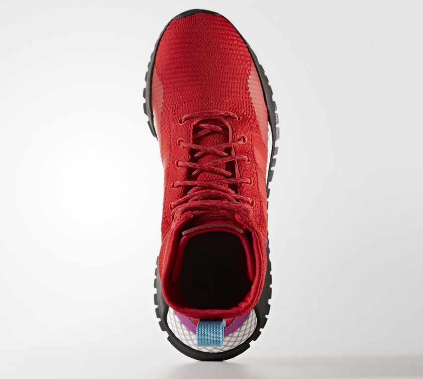 Red AF 1.3 Primeknit Boots by Adidas, Upper