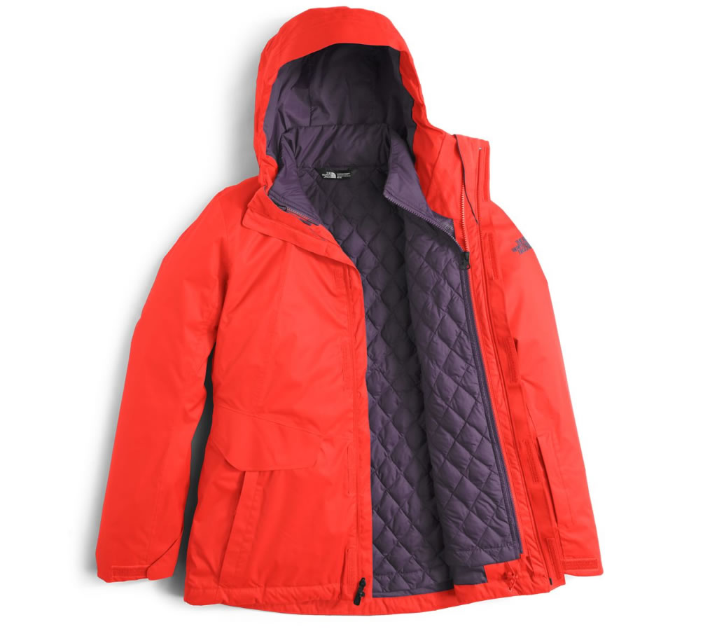 The North Face Thermoball Snow Triclimate Jacket, layers