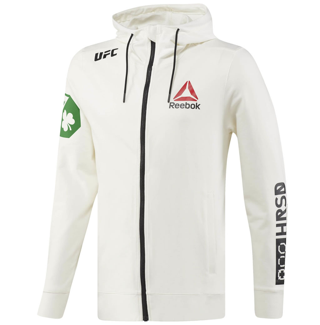White UFC Conor McGregor Champ Walkout Hoodie by Reebok