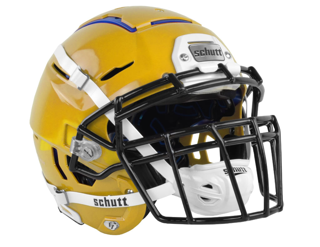 Gold F7 Adult Football Helmet by Schutt