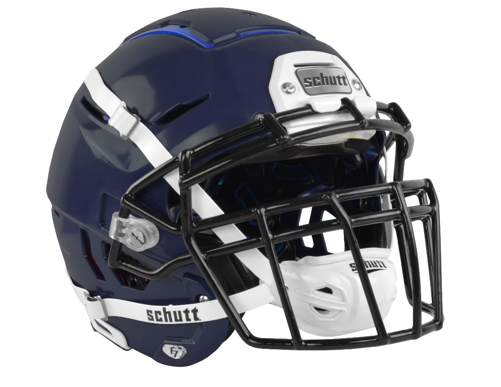 Navy F7 Adult Football Helmet by Schutt