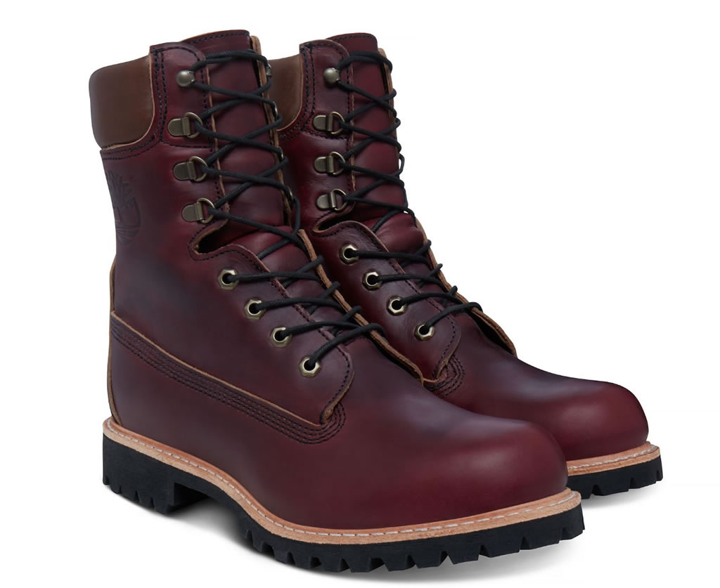 Timberland USA-made 8-inch Icon Boot Oxblood