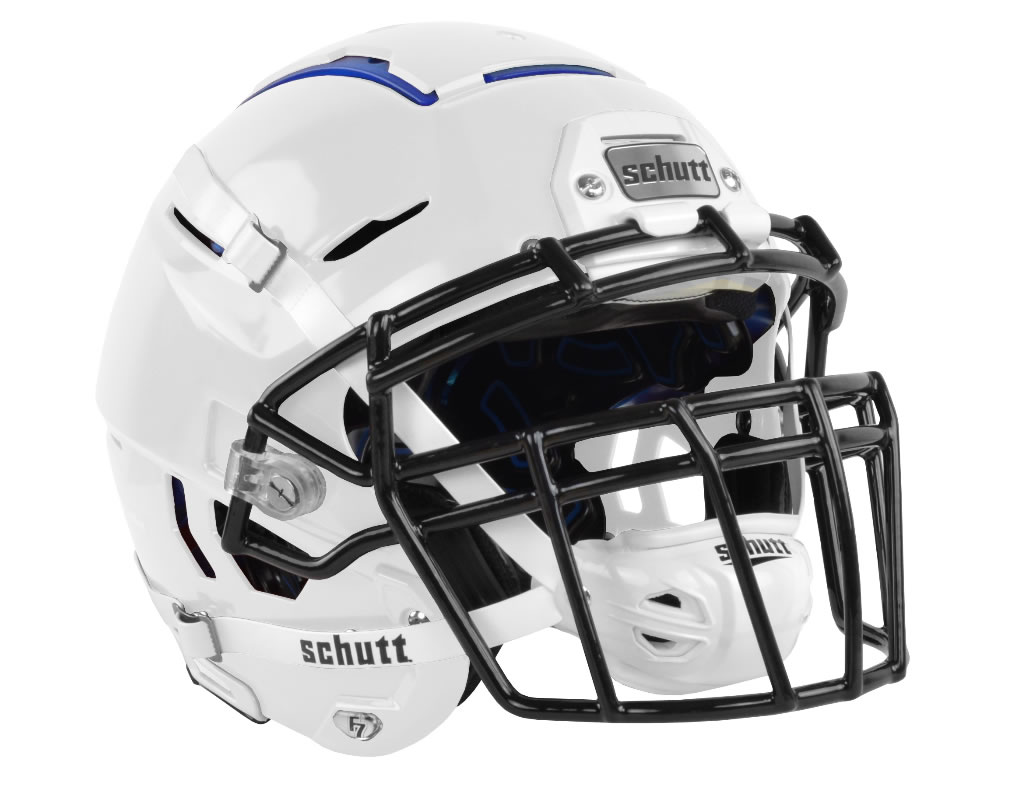 White F7 Adult Football Helmet by Schutt