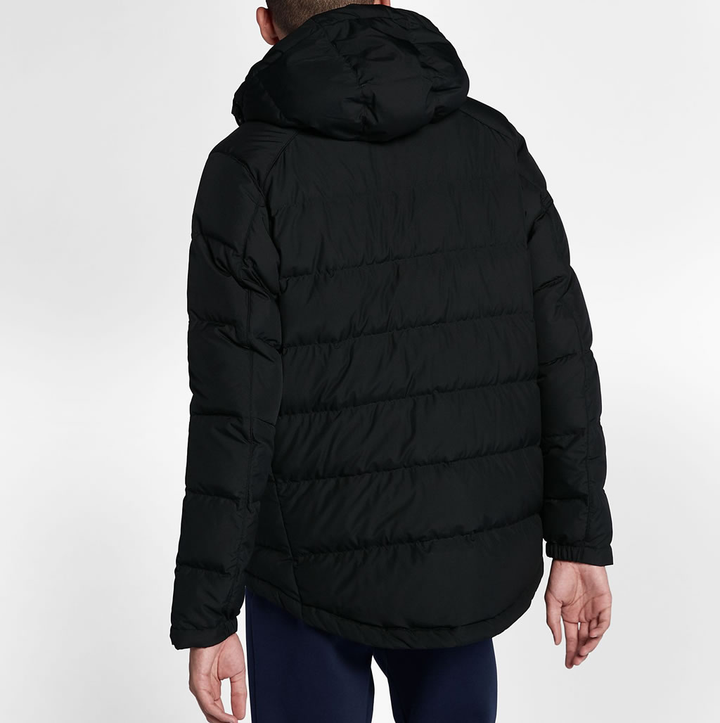 Black Down Jacket For Men by Nike Sportswear, Back