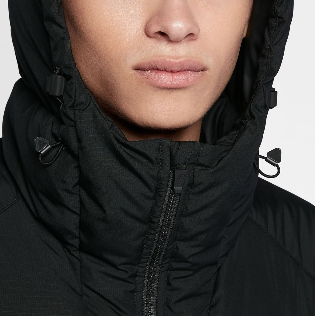 Black Down Jacket For Men by Nike Sportswear, Hoodie
