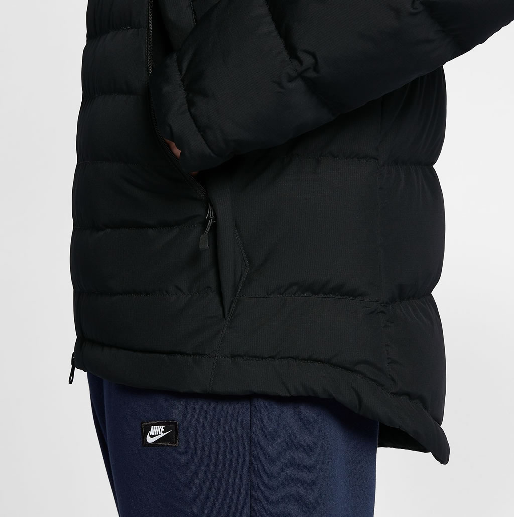 Black Down Jacket For Men by Nike Sportswear, Pockets
