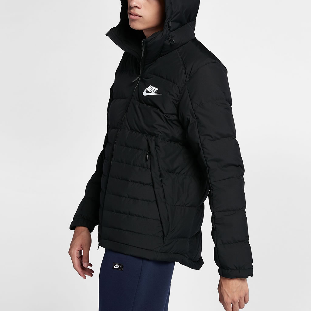 Black Down Jacket For Men by Nike Sportswear, Sid