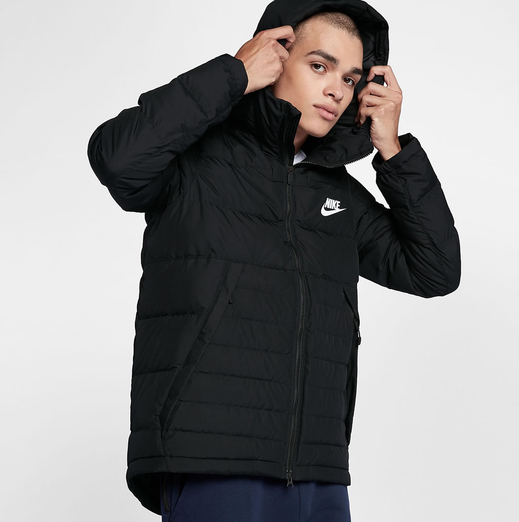 Black Down Jacket For Men by Nike Sportswear