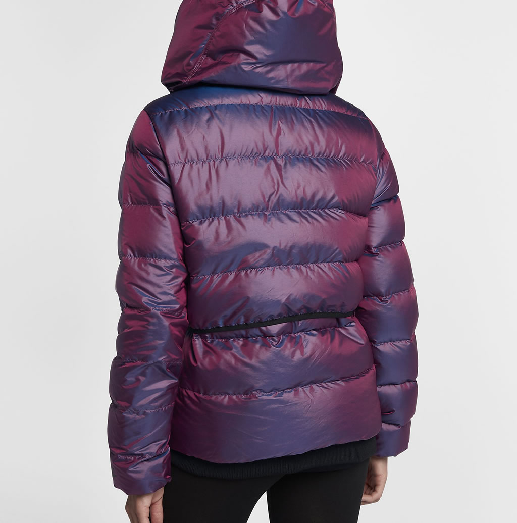 Bordeaux Down Jacket For Women by Nike, Back