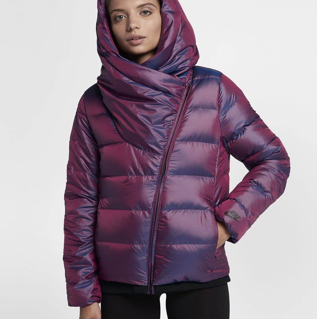Bordeaux Down Jacket For Women by Nike, Front