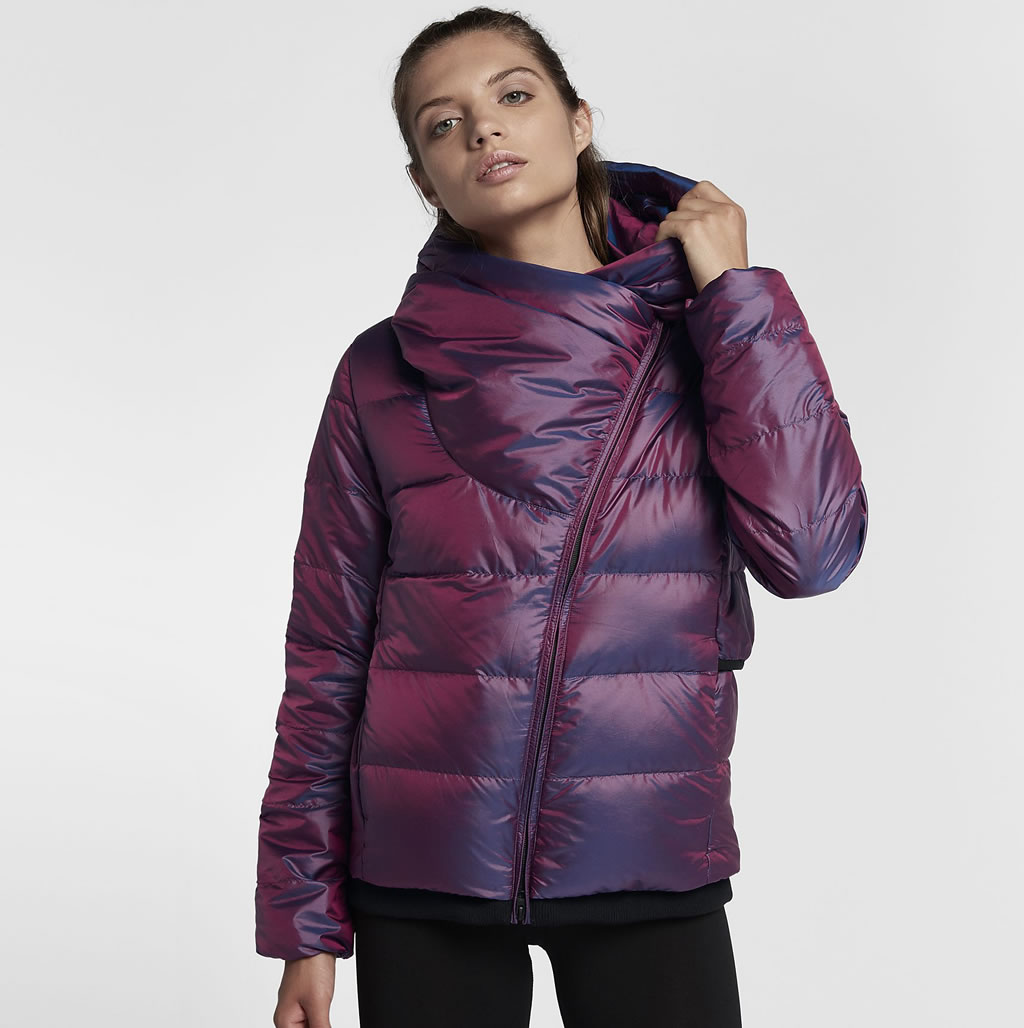 Bordeaux Down Jacket For Women by Nike Sportswear