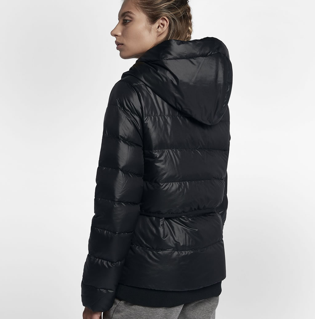 Hooded Down Women's Jacket by Nike, Back