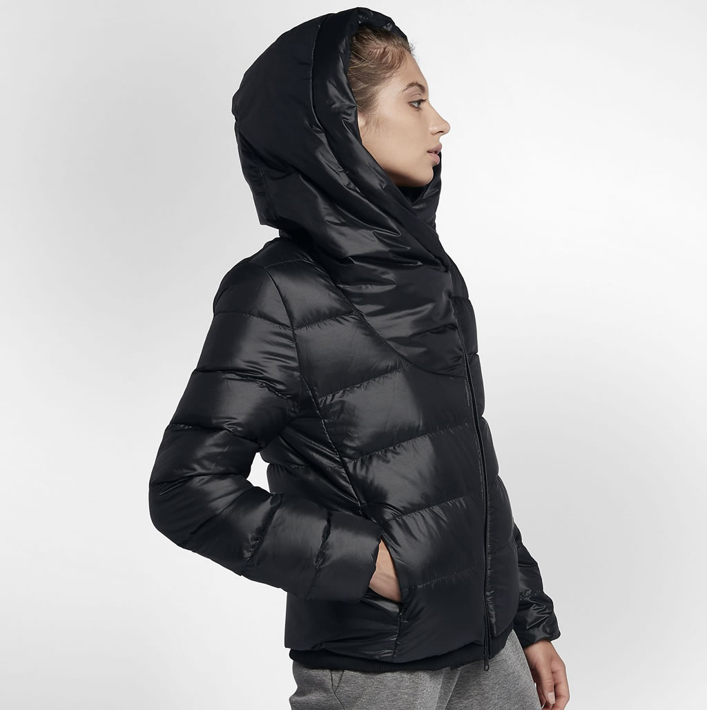 Hooded Down Women's Jacket by Nike, Side