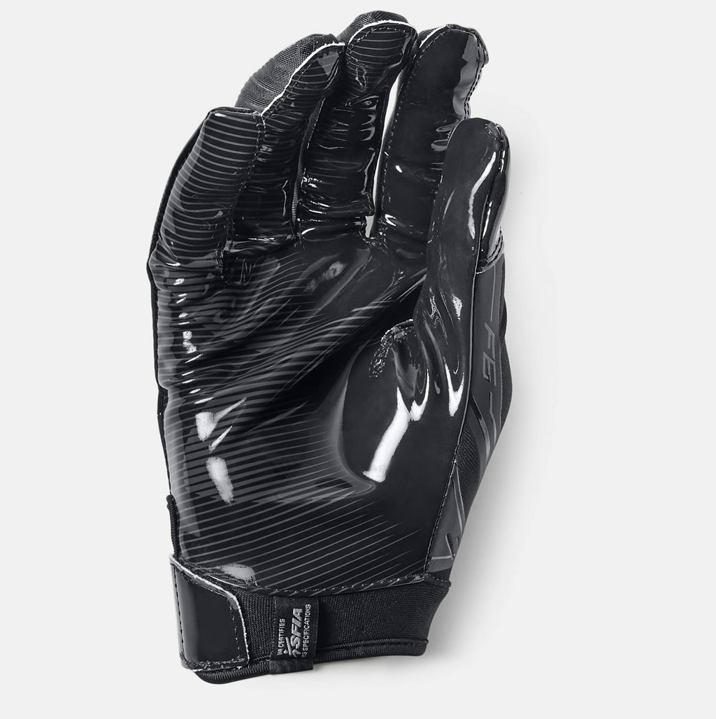 Black Adult F6 Football Glove by Under Armour
