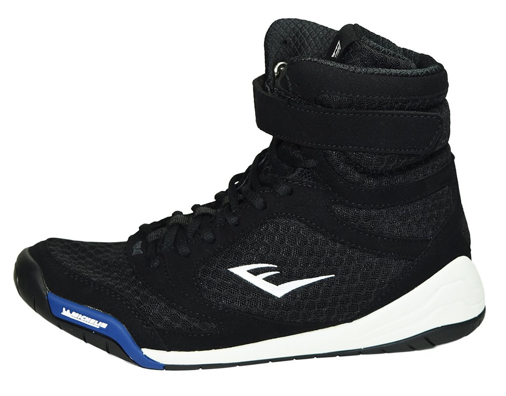 Black Elite High Top Boxing Shoes by Everlast, Side