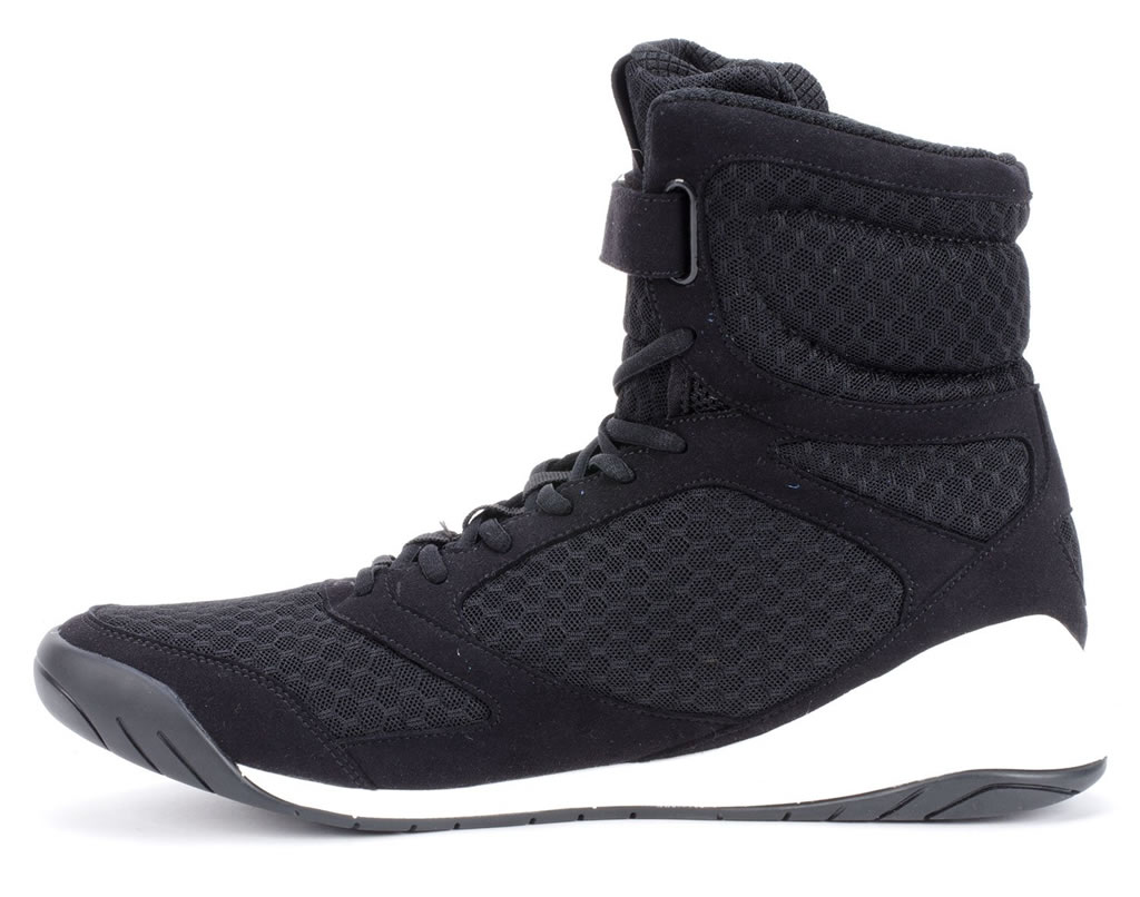 Black Everlast Elite High Top Boxing Shoes