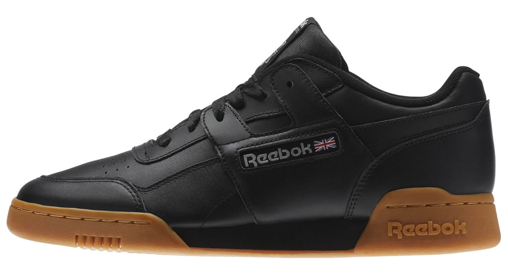 Black Reebok Workout Plus Sneakers, Side