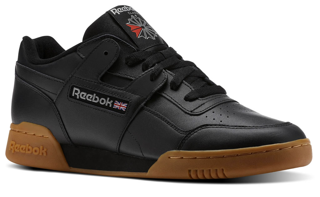 Black Reebok Workout Plus Sneakers