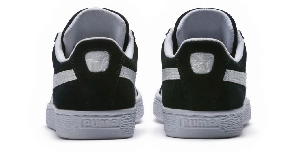 Black Suede Classic B-Boy Sneakers by Puma