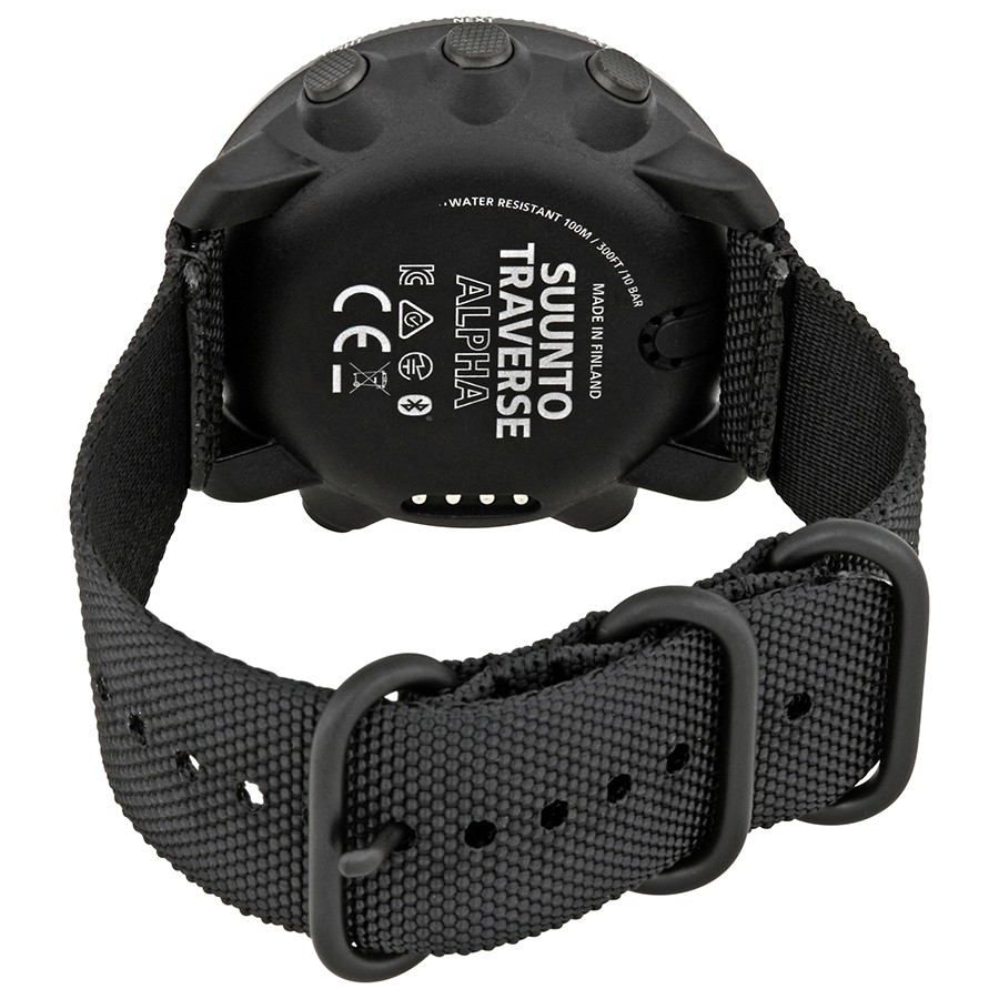 Black Traverse Alpha by Suunto, Strap