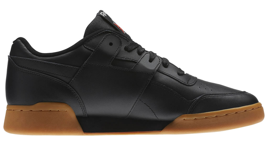 Black Workout Plus Sneakers by Reebok