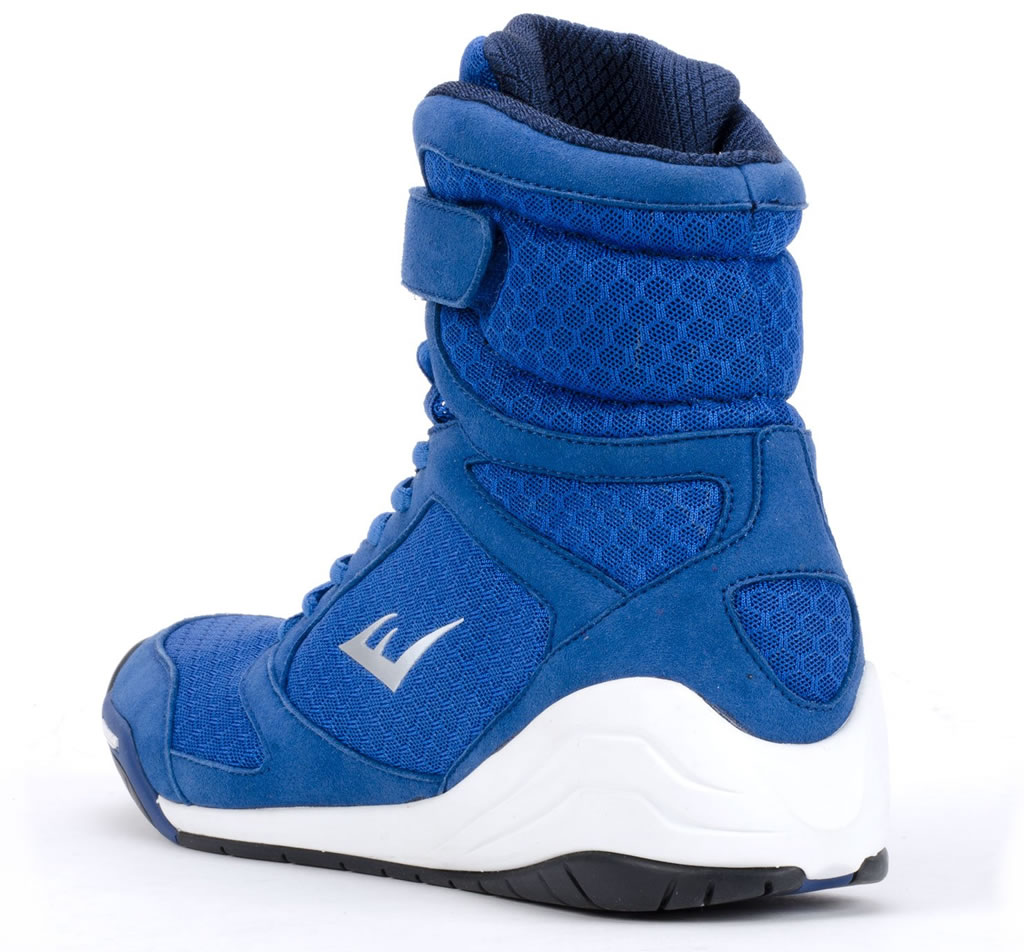 Blue Everlast Elite High Top Boxing Shoes