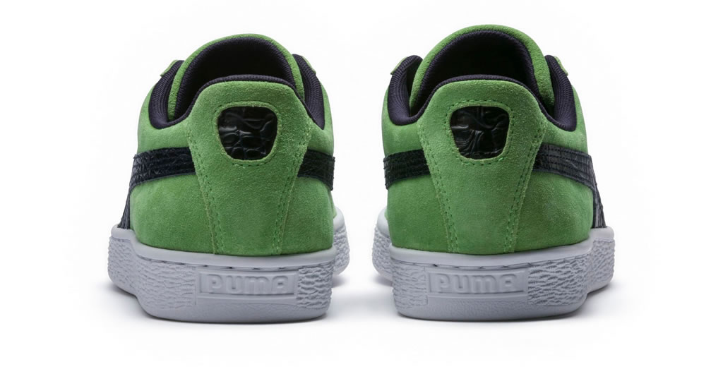 Green Suede Classic B-Boy Sneakers by Puma