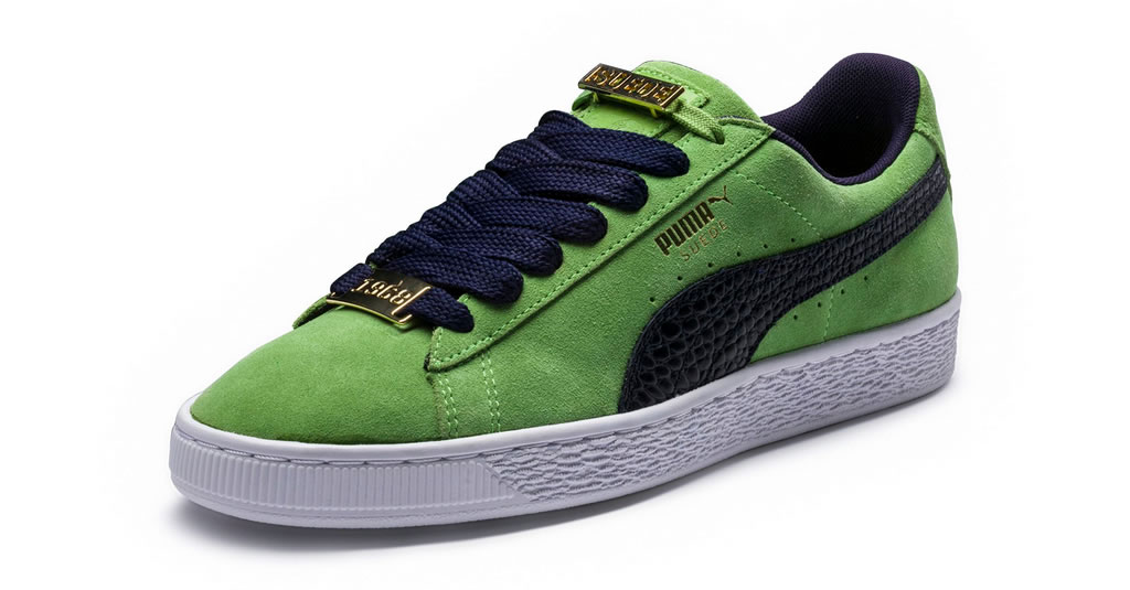 New Green Suede Classic B-Boy Sneakers