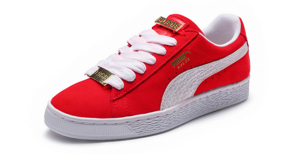 New Red Suede Classic B-Boy Sneakers